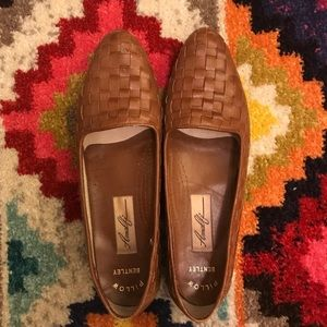 Vintage Amalfi Genuine Leather Woven Flats